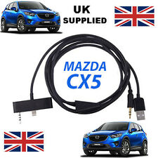 MAZDA CX5 Series iPhone 5 5C 5S USB & Aux Recambio Cable en negro