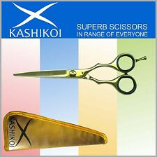 "6.5"" Professional Salon Barber Hair Styling Scissors & Shears Titanium Gold Good"