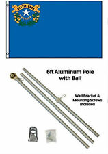 2x3 2'x3' State of Nevada Flag Aluminum Pole Kit Gold Ball Top