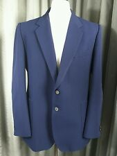 Marks & Spencer 100% Pure New Wool Navy Patch Pocket Gold Button Blazer 43-44