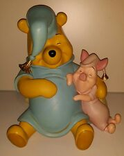 Large Winnie The Pooh and Piglet Sleeping statue figurine 12 inches Disney RARE