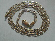 VINTAGE 10K GOLD 18.5 INCHES DIAMOND CUT FIGARO LINK CHAIN/NECKLACE NOT SCRAP