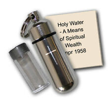 Aluminum Holy Water Bottle Key Chain
