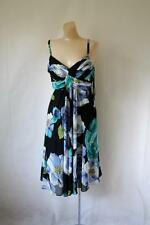 Jones Wear Silk Dress Strappy Formal Floral Silk Dress Easter Plus Dress 16 NWT