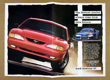 1995 red Ford Mustang GT & Cobra Race Car photo vintage print Ad
