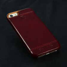 PIERRE CARDIN Red Genuine Leather Cover Hard Back Case For Apple iPhone SE 5 5S