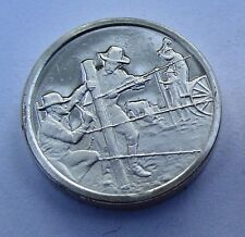 Franklin Mint Sterling Silver Mini-Ingot: 1874 Barbed Wire Fences The West