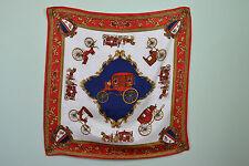Womens Vtg Royal Tudors Queen Satin Scarf 26x26 Horse Drawn Carriage Phaeton Q89