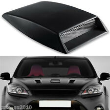 Auto Car Hood Black Carbon Fiber Air Scoop Flow Vent Decorative Bonnet Cover