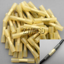 50pcs 12-10 AWG DuraSeal Heat Shrink Butt Splice Connector Terminals Splices