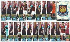 2015 / 2016 EPL Match Attax WEST HAM UNITED Team, Star Player, Logo & Away Kit