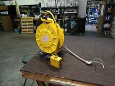 Aero-Motive Pow-R-Mite Industrial 25' Retractable Cable Reel w/ 4 Outlet Box