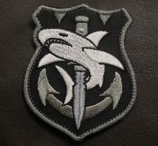 TAC SHARK TACTICAL MILITARY COMBAT ISAF BADGE SWAT VELCRO® BRAND FASTENER PATCH