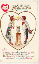 Halloween - Two Young Lovers & Marriage Poem - early 1900s