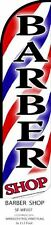 Barber Shop  King Size Windless 38 x 138 in Polyester Swooper Flag pk of 2
