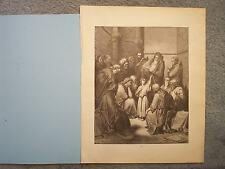 1888 DORE BIBLE GALLERY GUSTAVE ENGRAVING AGE 12 JESUS QUESTIONING THE DOCTORS A