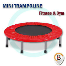 "40"" Mini Trampoline Jogger Rebounder Home Gym Workout Fitness Outdoor Indoor Red"