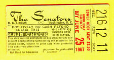 1967 WASH SENATORS TICKET STUB-6/25/67-BALT ORIOLES-DC STADIUM