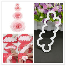 3D Rose Flower Fondant Cake Cookie Decor Sugarcraft Mould Mold Cutter Cake Tool
