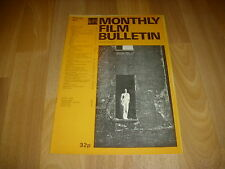MONTHLY FILM BULLETIN  Angelica  Huston in WALK with Love & DEATH  cover Feb 77