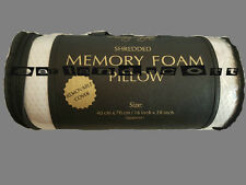 2X ORTHOPAEDIC SHREDDED MEMORY FOAM PILLOW FIRM HEAD NECK BACK SUPPORT PILLOWS
