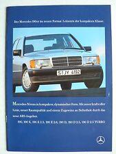 Prospekt Mercedes 190 bis 190 D 2.5 Turbo, 8.1988, 40 Seiten