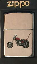 Silver Chrome ZIPPO Lighter 1996 Indian CHOPPER Motorcycle BIKE New in Box Rare!