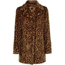 BNWT Oasis de tamaño 10-12 Leopardo Animal Print De Piel Sintética Para Mujer Damas Medio