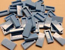 x50 NEW Lego Tiles Medium Blue Smooth Finishing Tile 1x2 1 x 2 MODULAR BUILDINGS