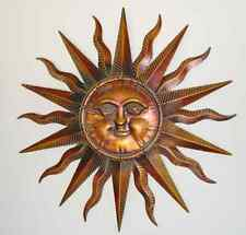 Copper Patina Sun Face Extra Large Sunburst Metal Wall Art Hanging Decor 38""