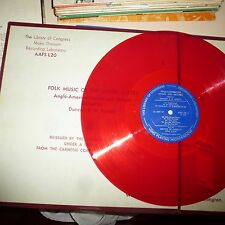 33RPM LP RECORD - FOLK MUSIC OF THE UNITED STATES - LIBRARY OF CONGRESS AAFS-L20