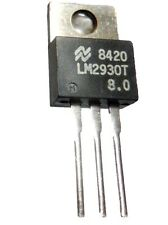 LOT DE 5 REGULATEURS LOW DROP LM2930 - 8,0 v EN BOITIER TO-220