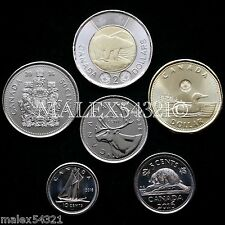 2016 COMPLETE COIN SET 5-CENT TO 2 DOLLARS UNCIRCULATED (6 COINS)