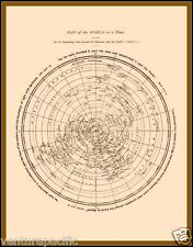 Map of the World as a Plane [Flat Earth]  :  David Wardlaw Scott  :  circa 1901