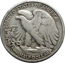 1936 WALKING LIBERTY Half Dollar Bald Eagle United States Silver Coin i44684
