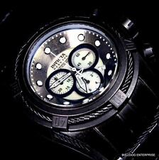 Invicta Reserve Bolt Zeus Industrial Distressed Black White MOP Swiss Watch New