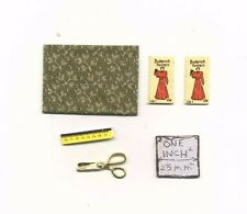Sewing Set -  dollhouse miniature metal IM65281G 1/12 scale fabric scissors
