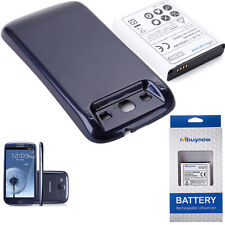 New 6000mAh Extended Battery+Blue Back Cover for Samsung Galaxy S3 I9300 in UK
