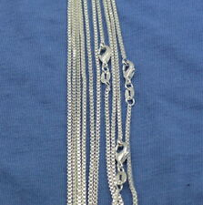 "wholesale 5pcs 925sterling solid Silver Snake 1.2mm Box Chain Necklace 17"" Y-35"