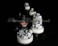 5 TIER CASCADE WEDDING CAKE STAND WITH FOUNTAIN  (STYLE #117)