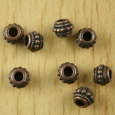 60pcs copper-tone studded drum spacer beads H2195
