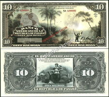 """NEW PANAMA LARGE SIZE """"SERIES OF 1918A"""" 10 BALBOAS FANTASY ART NOTE BY REED BNC!"""