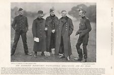 1896 MILITARY PRINT : MAJOR GENERAL KELLY-KENNY AND HIS STAFF, ALDERSHOT