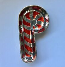 Silver Plated Candy Cane ~ Candy Dish ~ Holiday Collection by Godinger
