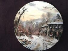 Placa de Royal Doulton Homeward Bound John Corcoran paisajes invernales