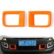 2x Front Bumper Air Duct Intakes Vent Cover Trim ABS For Renegade 1.4T 2015-2017