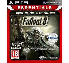 New & Sealed Fallout 3 Game of the Year Edition (Essentials) PS3