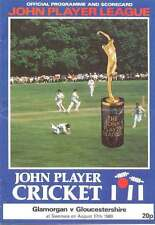 Glamorgan v Gloucestershire 1980 John Player League Cricket Programme at Swansea