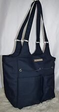 ARIAT Carry All Navy Blue Poly Canvas Grooming Tote Handbag