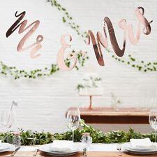 ORO ROSA l'onorevole & Mrs, Metallica Oro Rosa sfondo / Bunting WEDDING SFONDO - 1,5 M